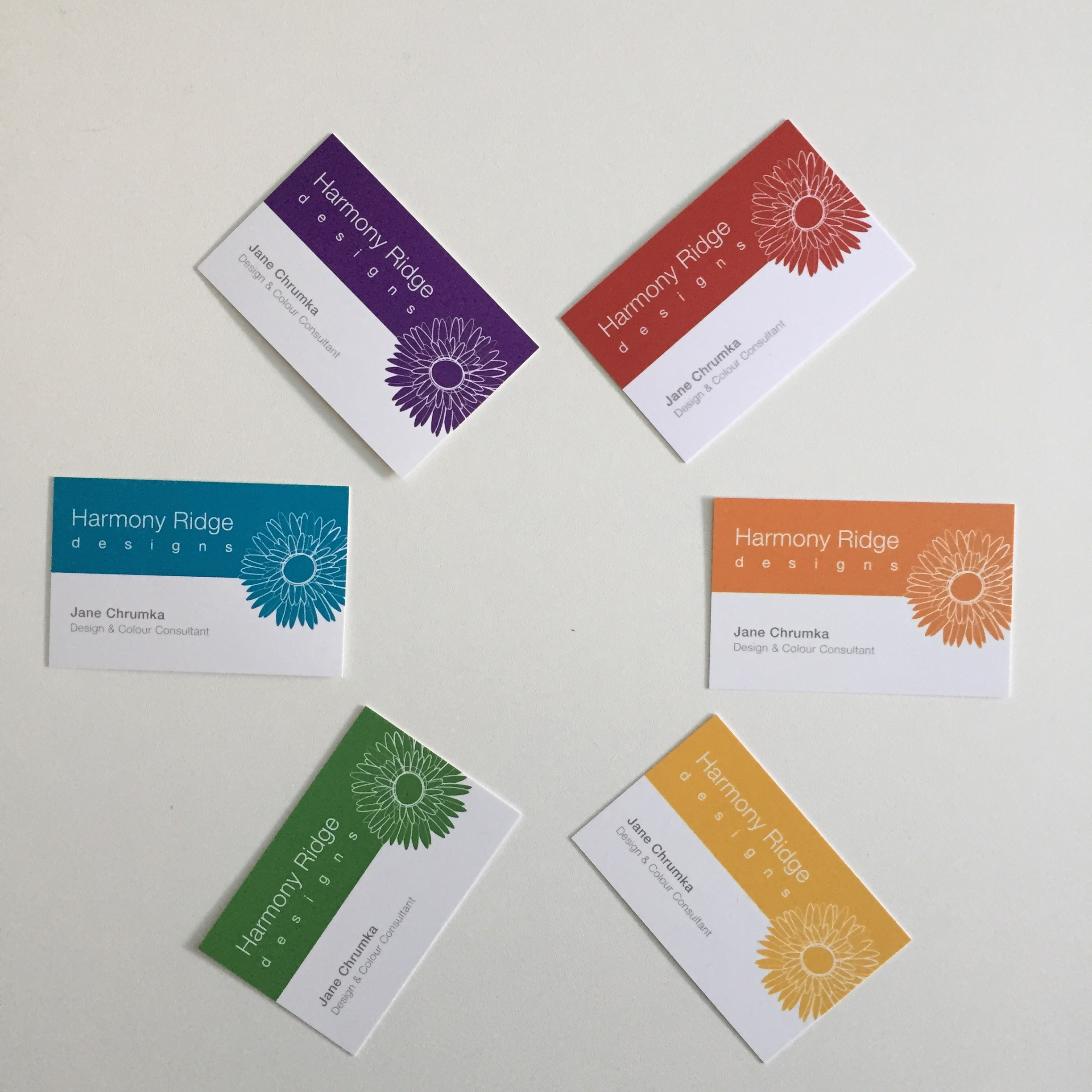 Business Cards Colour Wheel
